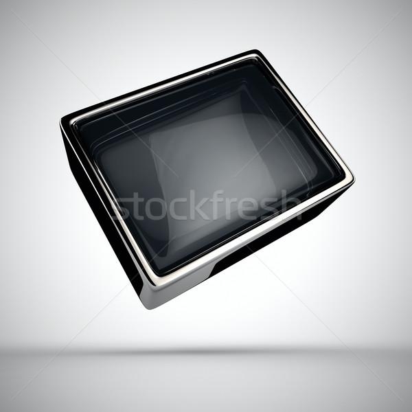 экране стекла белый телевидение металл окна Сток-фото © timbrk