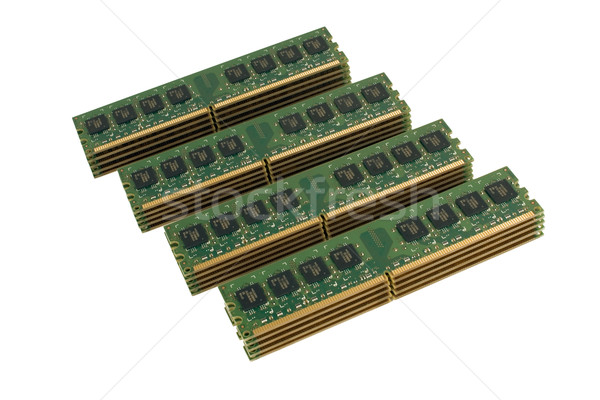 4 column of computer memory modules 2 Stock photo © timbrk