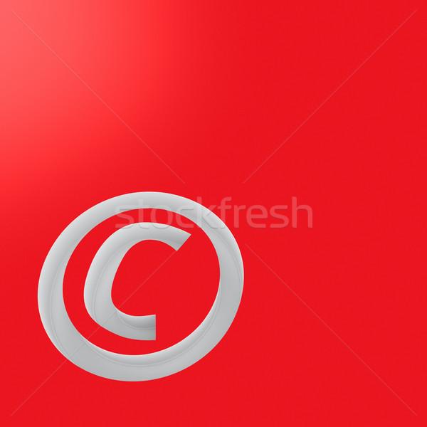 Direitos autorais símbolo vermelho computador gráfico legal Foto stock © timbrk