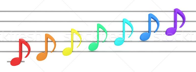 Music of rainbow Stock photo © timbrk