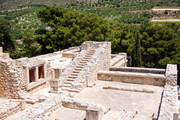 Ruins of Knossos Palace Stock photo © timbrk