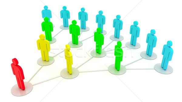 社会 関係 グループの人々  社会的ネットワーク 孤立した 白 ストックフォト © timbrk