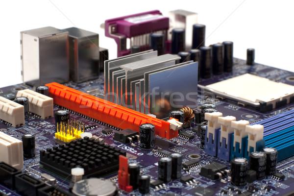 Arancione computer primo piano bianco design Foto d'archivio © timbrk