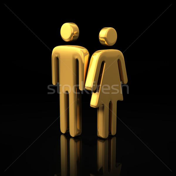 Man and woman symbols Stock photo © timbrk