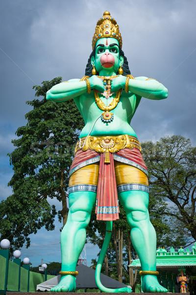 Gigante estátua Malásia divindade hinduismo verde Foto stock © timbrk