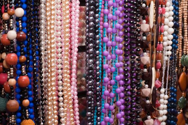 Biżuteria sklep obfity wyboru sieczka moda Zdjęcia stock © timbrk