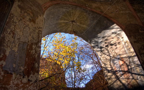 Sunlight in a church Stock photo © timbrk