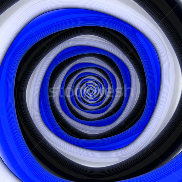 Buio contrasto vortice piazza bianco nero blu Foto d'archivio © timbrk