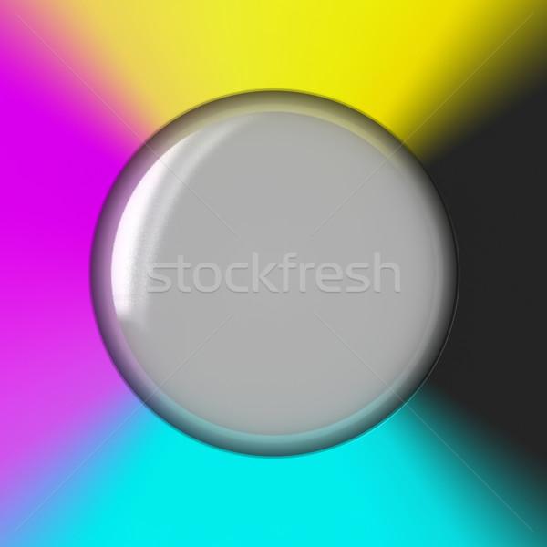 пузыря стекла синий черный прессы шаблон Сток-фото © timbrk
