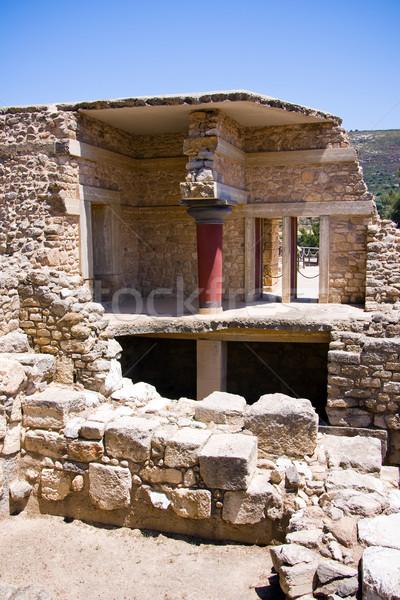 дворец интерьер мнение каменные антикварная греческий Сток-фото © timbrk
