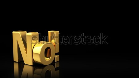 ストックフォト: 黒 · スライド · 金 · 頭字語 · 反射