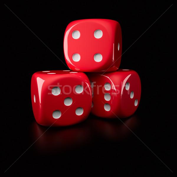 Three dice Stock photo © timbrk