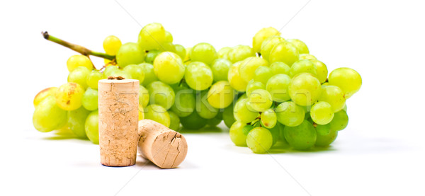 Stock photo: Grape and corks