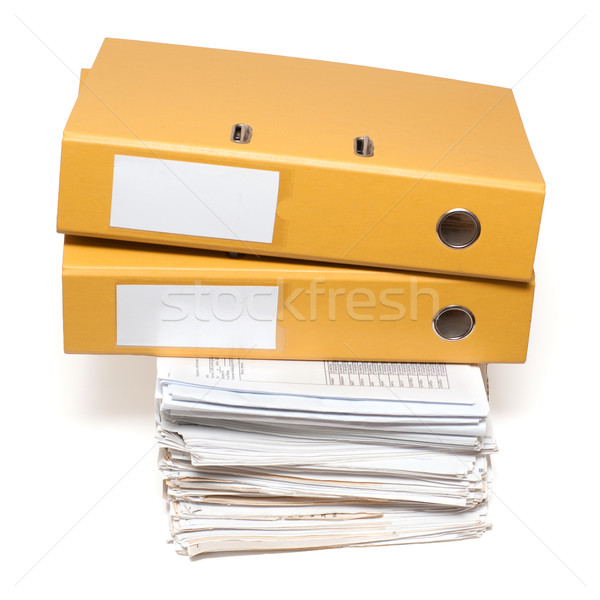Two binders and documents Stock photo © timbrk