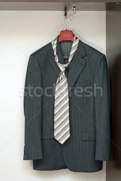Suit guardaroba business impiccagione rack legno Foto d'archivio © timbrk
