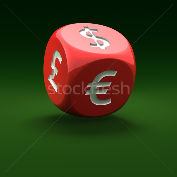 Financial dice Stock photo © timbrk