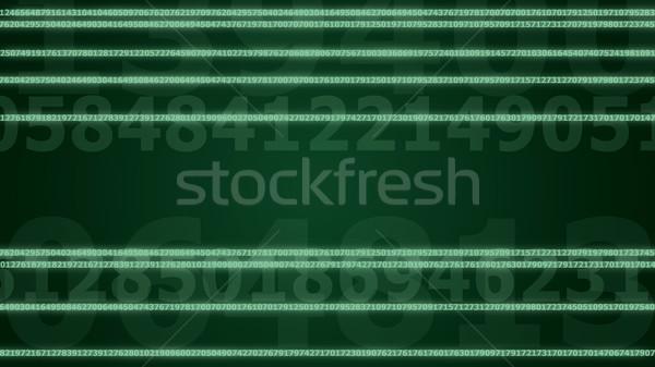 Líneas dígitos imagen verde Foto stock © timbrk