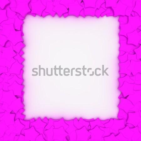 Magenta keret üres csillagok dizájn elem számítógép Stock fotó © timbrk
