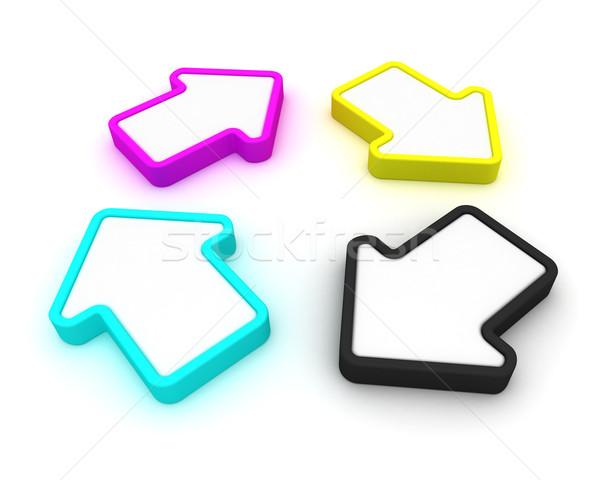4 パレット デザイン 技術 青 ストックフォト © timbrk