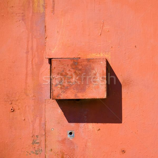 Serrure porte vieux rouge métal lock Photo stock © timbrk