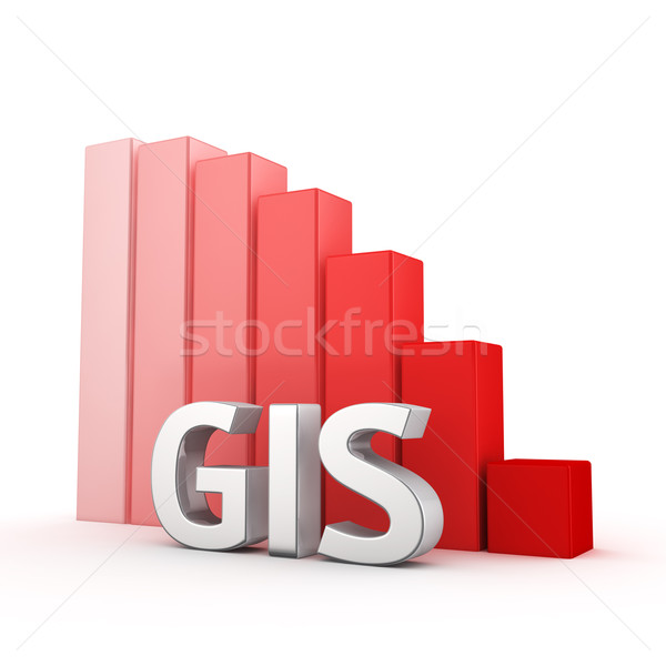 Csökkentés csökkenés tevékenység betűszó lefelé piros Stock fotó © timbrk