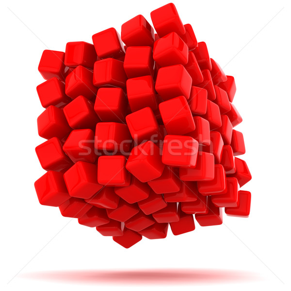 Unstable cube Stock photo © timbrk