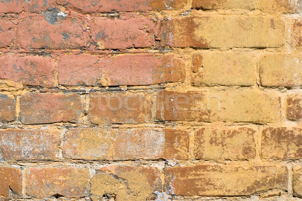 Painted brick wall Stock photo © timbrk