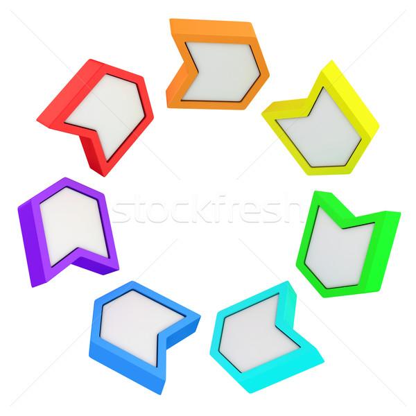 Rainbow arrows Stock photo © timbrk