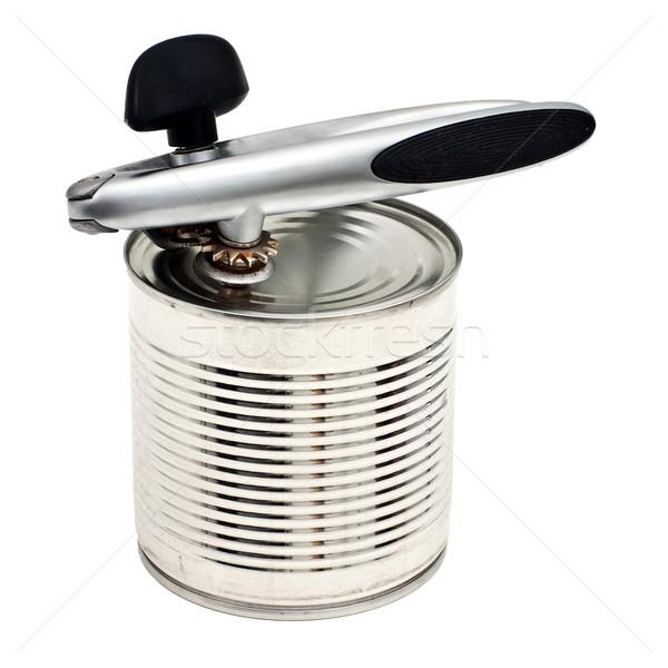 Zachowane metal puszka odizolowany biały Zdjęcia stock © timbrk