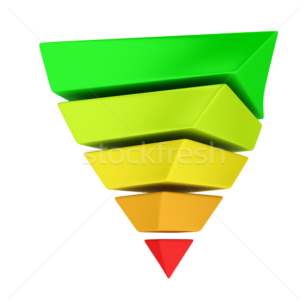 Reversed pyramid  Stock photo © timbrk