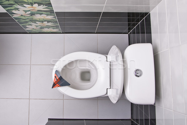 Toilet bowl directly above Stock photo © timbrk