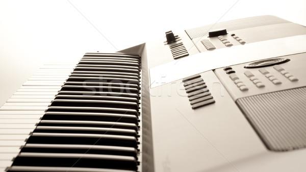 Elefántcsont profi billentyűzet közelkép zene technológia Stock fotó © timbrk