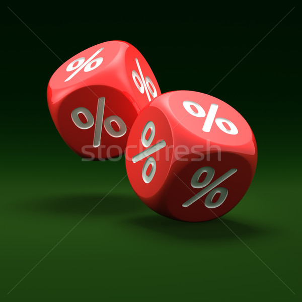 Percent sign on the dice Stock photo © timbrk