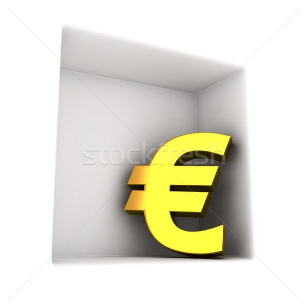 Or euros symbole niche signe Finance Photo stock © timbrk