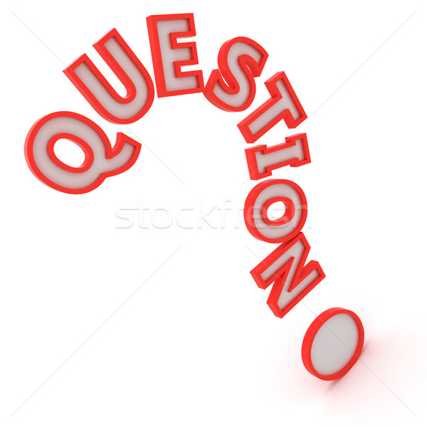 Big question mark Stock photo © timbrk