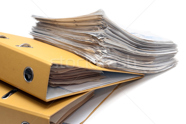 Two folders and pack of documents Stock photo © timbrk