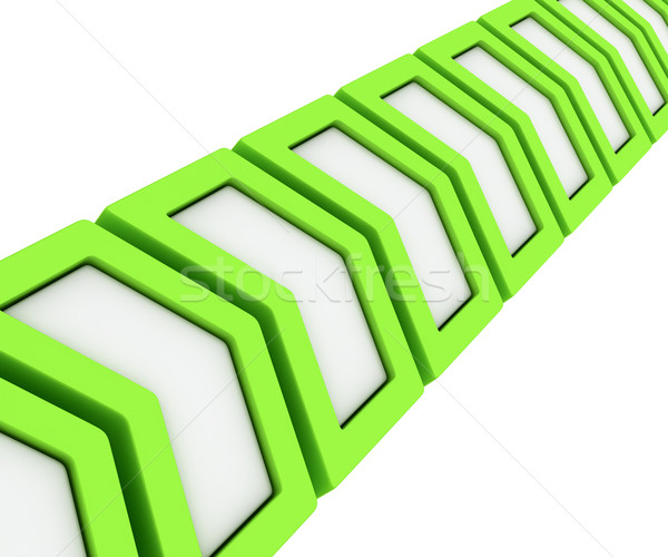 Green arrows in a line Stock photo © timbrk