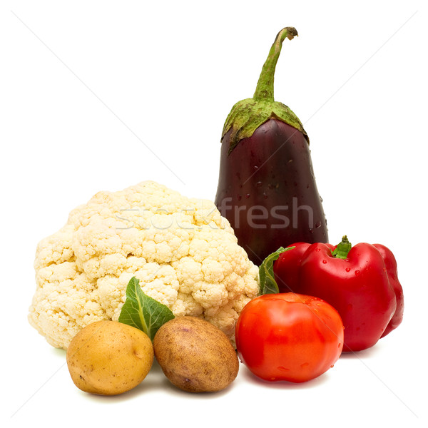 Hortalizas aislado blanco alimentos fondo planta Foto stock © timbrk
