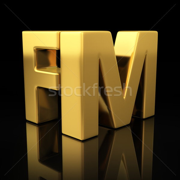 FM gold letters Stock photo © timbrk