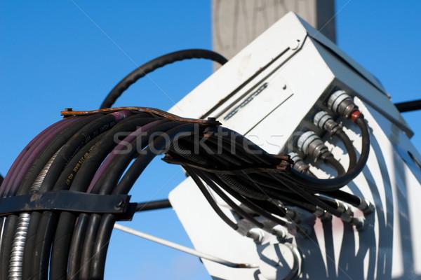 油圧 新しい 道路 車 建設 ストックフォト © timbrk