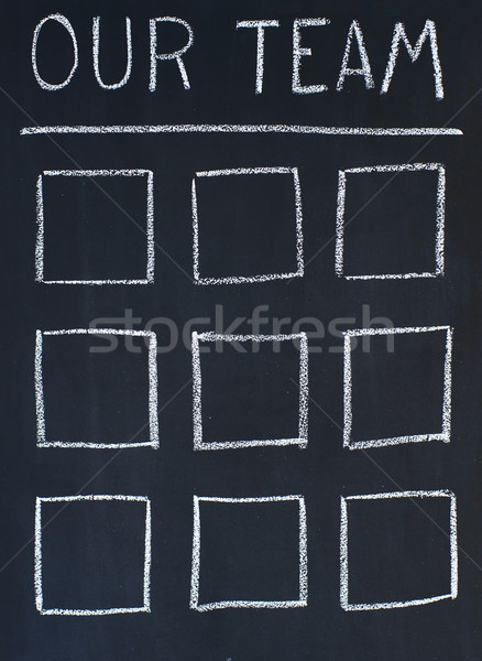 Equipe foto modelo título tabela escolas Foto stock © timbrk