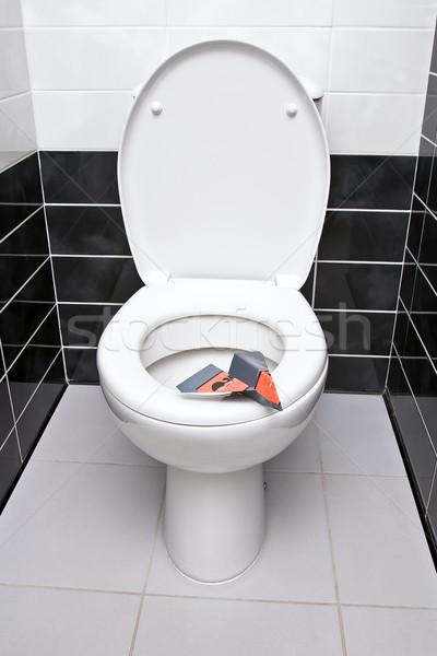 санитарный плоскости бумаги сиденье туалет чаши Сток-фото © timbrk