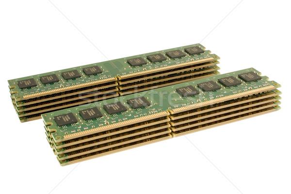 メモリ パック コンピュータ 緑 デジタル データ ストックフォト © timbrk