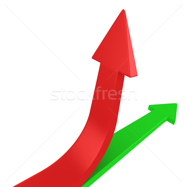 Red and green arrows Stock photo © timbrk