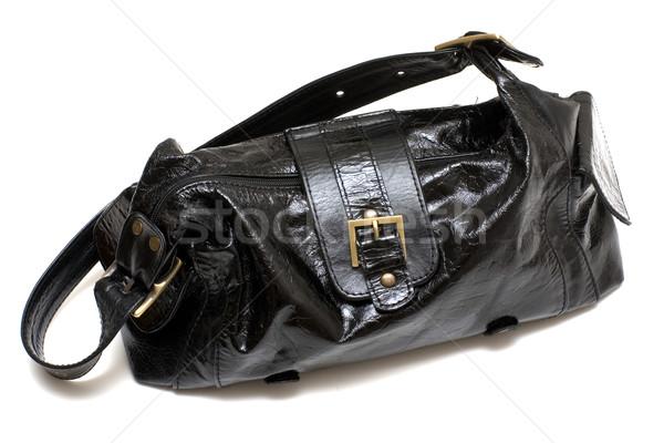 женщины черный сумку изолированный белый женщину Сток-фото © timbrk