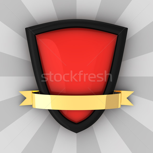 Red blank shield Stock photo © timbrk