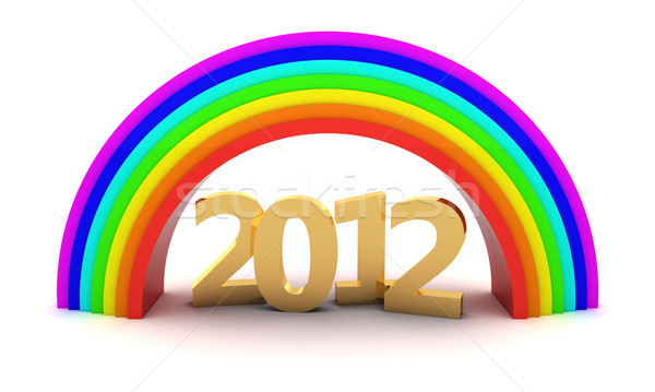 2012 Rainbow or 3D objets Photo stock © timbrk