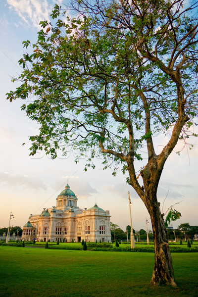 Anantasamakhon throne hall in Bangkok Stock photo © timbrk