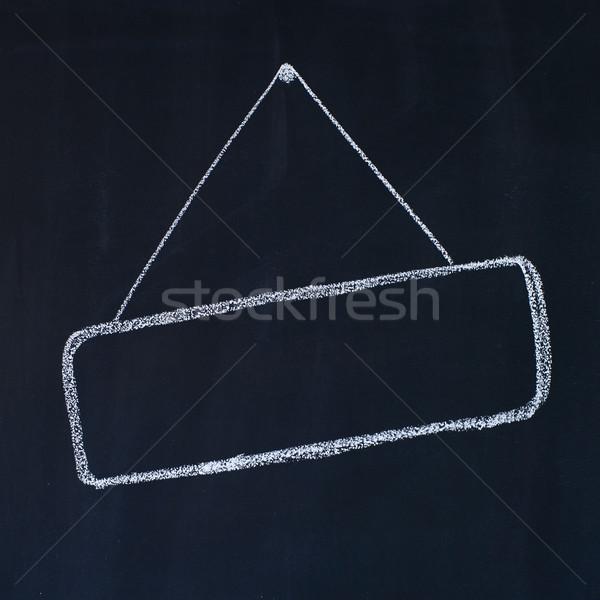 кадр доске рисунок мелом знак пространстве баннер Сток-фото © timbrk