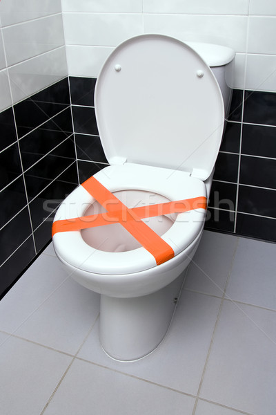 Do not throw trash in toilet Stock photo © timbrk